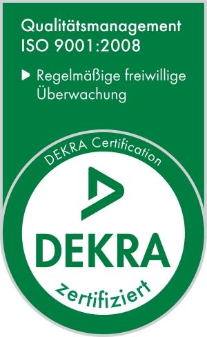 Dekra ISO 9001 Siegel